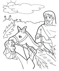 triumphal entry of jesus to jerusalem in palm sunday coloring page