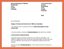 how to write a letter of complaint bio example