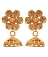 3 gram gold earrings jfl jewellery for less one gram gold plated spiral