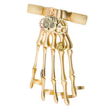 gold hand bracelet images Gold steampunk hand bracelet 2 1 2in x 5 1 2in party city