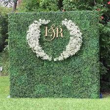 wedding backdrop initials best 25 flower wall wedding ideas on flower backdrop