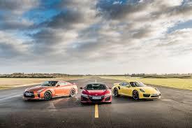 nissan gtr vs bike acura nsx vs porsche 911 turbo vs nissan gtr which is fastest to