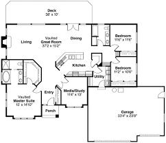modern style house plan 3 beds 2 00 baths 2035 sq ft plan 124 278