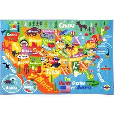 kc cubs usa geography map educational area rug 5 u0027 0 x 6 u0027 6