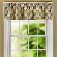 palm tree jacquard window valance christmas tree shops andthat