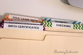 family file organization mommy suite