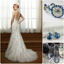 silver wedding dresses blue and silver wedding dresses