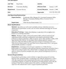 nice idea bank teller resume skills 8 head objective resume example