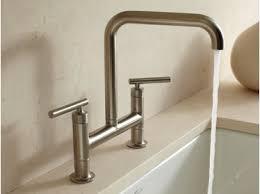 bridge faucets for kitchen kohler canada purist bridge kitchen faucets kitchen kitchen