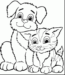 marvelous dog and cat coloring pages with coloring pages for