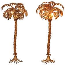 Tree Floor L Pair Of Gilt Metal Palm Tree Floor Ls By Hans Kögl Lomomomo