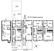 Brooklyn Brownstone Floor Plans by Proposed 1st Thru 4th Floor Plans Townhouse Floor Plans