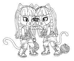 monster doll coloring pages gekimoe u2022 114410