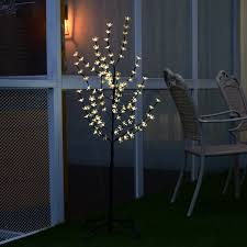 christmas xmas cherry blossom led tree light floor lamp holiday