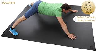Exercise Floor Mats Over Carpet by Amazon Com Square36 Extra Large Exercise Mat 8 X 6 Feet