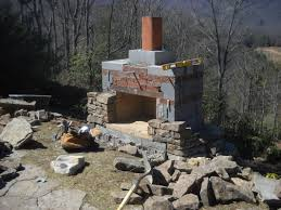 how to build an outdoor fireplace with cinder blocks home design