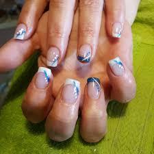 polish colors frenchtip nail design stunning black blue nail