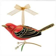 2011 of birds scarlet tanager hallmark club event ornament