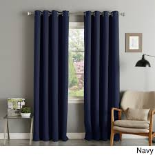 aurora home silver grommet top thermal insulated 108 inch blackout curtain panel pair beige size 52 x 108 polyester solid