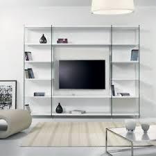 libreria tv libreria porta tv byblos da parete design in legno e vetro 250 x