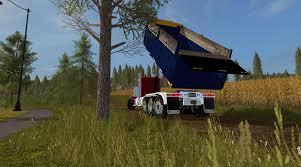 freightliner dump truck fs17 freightliner fld12064sd dump truck v1 0 farming simulator