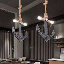 Multi Light Pendant Industrial Multi Light Pendant Light With Wrought Iron Anchor