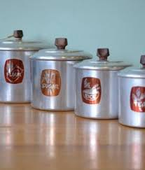 funky kitchen canisters vintage copper brass coffee and tea canisters cannisters tin tins