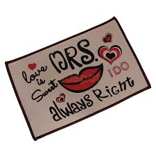 online shop funny mr right mrs always right non slip doormat