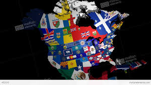 Map Of Usa States by 3d Map Of Usa With State Flags Stock Animation 452010