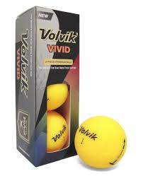 volvik 2017 matte finish 3 golf balls choice of sleeve