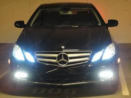 mercedes aftermarket headlights mercedes e350 coupe with 6000k led parking lights ijdmtoy