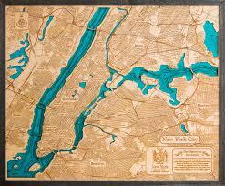 Map Of Brooklyn Ny New Manhattan New York City 3d Wood Map U2013 Tahoe Wood Maps