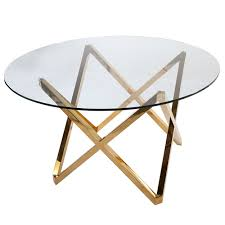 Glass Round Kitchen Table by Galvin Dining Table Gold Glass Round Dining Table Round