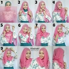 tutorial hijab segi empat paris simple cara memakai hijab by jenahara hijab style 6