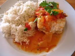 cuisiner la lotte marmiton la réunion en recettes cari de lotte et riz au lait de coco