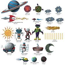 space wall sticker kit space wall decals saturn wall decal stickers included