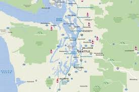 seattle map maps visit seattle