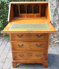 Small Bureau Desk by Small Yew Writing Bureau By Burton Reproductions