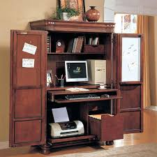 Ashley Furniture Armoire Compact Computer Desk With Storage Innovative Teak Wood Corner