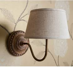 Bedroom Lighting Uk Grandeur Wall Light Brown Linen Shade Wall Lights