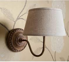 Bedroom Lights Uk Grandeur Wall Light Brown Linen Shade Wall Lights
