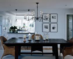 bright hubbardton forge in dining room rustic with rustic