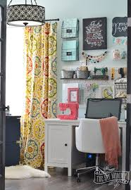 Office Wall Organizer Ideas My Colourful Boho Craft Room Office Tour Video The Diy Mommy