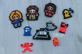doodlecraft doctor who perler bead ornaments