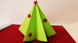 how to make christmas tree decoration with paper youtube