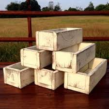 Small Wooden Boxes For Centerpieces by Small Wood Box Woodland Planter Flower Box Rustic Pot Square Vases