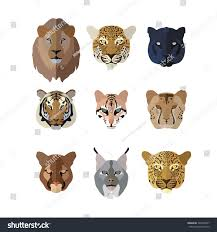 jaguar icon animal icons flat style big cats stock vector 324455837 shutterstock