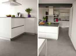 le pour cuisine moderne le béton ciré dans la maison moderne santos kitchens and house
