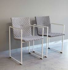 contemporary chair with armrests sled base fabric frame by