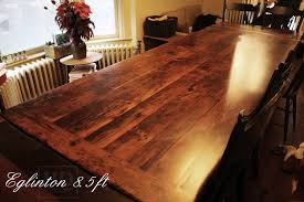 Dining Room Furniture Toronto Reclaimed Wood Harvest Table In Toronto Ontario